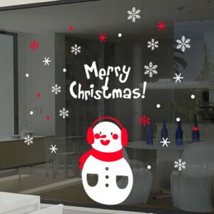 그래픽스티커 (cc491)-이빠진눈사람_크리스마스스티커