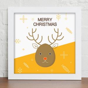 디자인액자,cu408-크리스마스아트_인테리어액자,벽면디자인소품데코,벽걸이,겨울,성탄,산타,루돌프,트리,눈사람,썰매,얼굴,일러스트,풍경