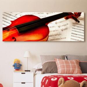 노프레임액자,it029-악보위의바이올린_대형노프레임,캔버스액자,인테리어디자인벽면데코소품,음악,악기,학원,악보,바이올린